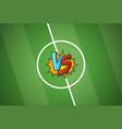 soccer championship versus battle cartoon vector image vector image