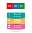 Step by step info graphics template vector image