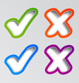 stylish checkmark stickers vector image vector image