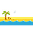 summer holidays sea surf on sandy beach vector image vector image