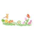 summer nature flowers and plants vector image vector image