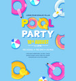 summer pool party poster banner layout vector image vector image