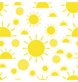 sun seamless pattern background business flat vector image