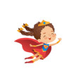 superheroine cute girl costume vector image vector image