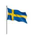 sweden flag on a white vector image vector image