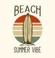 t-shirt design slogan typography beach summer vector image vector image
