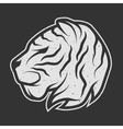 Tiger symbol logo for dark background vector image vector image