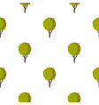 tree with fruit pattern flat vector image vector image