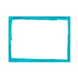 Turquoise grunge frame vector image