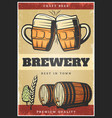 colorful vintage brewing poster vector image