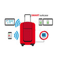 smart suitcase vector image