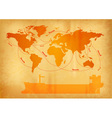 world map old paper vector image