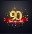 90 years anniversary logo template on dark vector image vector image