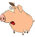 A cute pig farm animal cartoon vector image vector image