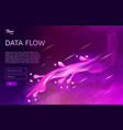 abstract and creative concept of data flow vector image vector image