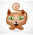 Abstract Brown Cat vector image vector image