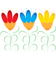 Abstract fun flowers vector image vector image