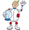 Astronaut character cartoon vector image