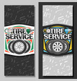 banners for tire service vector image