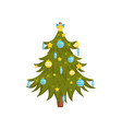beautiful christmas tree decorated with glossy vector image
