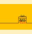black friday gift sale minimal background vector image