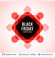 black friday sale background design vector image