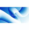 blue fluid wave background duotone gradient shape vector image vector image