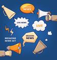 breaking news set vector image vector image