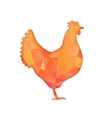 Bright red polygon of a hen isolated vector image