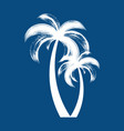 brush stroke palm trees icon isolated vector image vector image