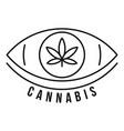cannabis eye logo outline style vector image vector image