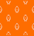 chick pattern orange vector image