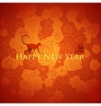 Chinese new year background Floral design vector image vector image
