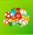 christmas presents concept vector image vector image