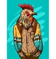cock fashion style vector image
