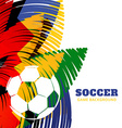 colorful football design vector image vector image