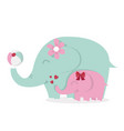 cute elephants with ball vector image vector image