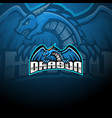dragon esport mascot logo design vector image vector image