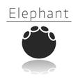 Elephant animal track vector image vector image