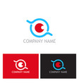 eye optic round logo vector image vector image