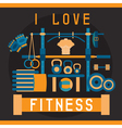 flat design with fitness stand vector image