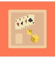 flat icon on stylish background poker board card vector image vector image