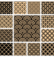 geometric patterns set vector image vector image