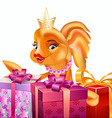 gold fish gifts1 vector image vector image