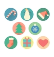 happy new year set icons vector image