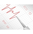 Heart beats cardiogram process vector image
