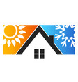 house sun and snowflake vector image vector image