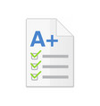 icon of successful school test result test icon vector image vector image