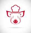 image of an pig chef vector image