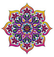 indian ornamental mandala ethnic folk ornament vector image